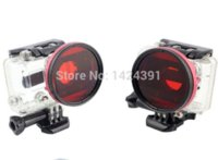 Wholesale 2014 new arrivel mm Red Diving Lens Full Color Filter for Gopro Hero HD Camera amp