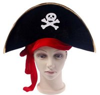 Wholesale Halloween accessories skull hat caribbean pirate hat skull pirate hat piracy hat Corsair cap party supplies HJIA679