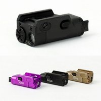 airsoft glock - Tactical High Lumen XC1 MINI Pistol LED Light Military Airsoft Hunting Flashlight Used In GLOCK DE BK Purple