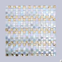 Wholesale The new European easy to paste silver aluminum plate inside and outside wall mosaic background lights factory direct
