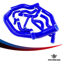 Wholesale PQY RACING PC Blue Silicone Radiator Hose Kit for SILVIA SX RPS13 S14 S15 Earlier Ver SR20DET PQY LX C BL