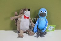 Wholesale 100pcs Cartoon Regular Show Stuffed Animal Plush Rigby Mordecai Soft Toy