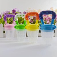 Wholesale Baby Infant Food Nipple Feeder Silicone Pacifier Fruits Feeding Tool Supplies L00050 OST