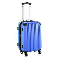 Wholesale 20 quot Expandable ABS Carry On Luggage Travel Bag Trolley Suitcase Navy