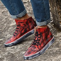 band roman - red green yellow three colors flattie elastic band leather boots men s winter boots leather brush color retro boots