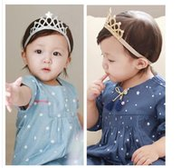 act paper - South Korea baby hair lead the act the role of cute crown hair accessories cloth Gold silver Baby Crown hair Accessories MQ