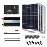 automobile volt - Complete Watts Poly Solar Panel Kit w Inverter Off Grid Volt RV Boat