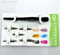 Cheap Wholesale-Wholesale Professional Acrylic 5pcs Set Nail Art Painting Fountain Pens Kit Nail Liner Drawing Design Tools Free Shipping