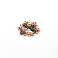 Wholesale DIYJewelry Spacer Beads mm mm Black Gold Plated Silver Plated Rose Plated High Quality Metal Round Beads