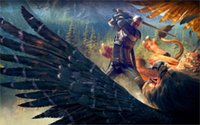 action hunting games - Game the witcher wild hunt action game x36 inch art silk poster Wall Decor