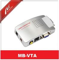 av monitor adapter - VGA to AV RCA TV Monitor S Video Signal Converter Adapter Switch Box PC Laptop