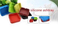 Wholesale Free DHL whole sale cm New Portable Soft Silicone plastic Square and round Ashtray