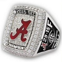 alabama football jewelry - 2015 Alabama Crimson Tide SEC Football National Championship Ring Replica men fahion jewelry ring