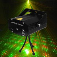 red and blue strobe lights - Portable Mini Led Projector DJ Disco Light Red And Green Music Stage Lights Xmas Party Wedding Club Show Laser Lighting