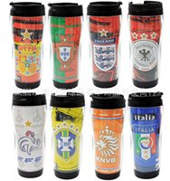 Wholesale 2016 Soccer Fans Souvenir Water Bottles AC Milan Football Team Climbing Hiking Sport Thermal Insulation Water Glass Mugs Cups