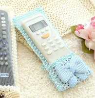 air conditioning wire - Bowknot Cloth Bag Remote Control Colors Dustproof Case Cover Protector For TV Air Condition