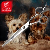 arc japan - High end Professional Japan stainless steel Pet Grooming trimming dog Cutting Straight inch Scissors Arc blade New arrival
