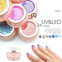 Wholesale CANNI colors nail art design for nails soak off uv led starry glitter uv paint gels uv glitter powder gel