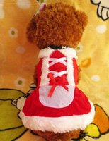 Wholesale Pet Winter Christmas Red Clothes Outwear Coat Apparel Puppy Dog Santa Claus Costume Dogs Pets Hoodie