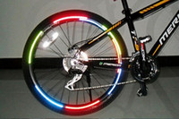 Wholesale Bicycle reflector Fluorescent MTB Bike Bicycle Sticker Cycling Wheel Rim Reflective Stickers Decal Accessories BRS2001