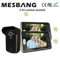 Wholesale 2 G Wireless Door Video Phone Camera with Doorbell Intercom One Camera Two Monitor No Need Cable to Install