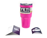 Wholesale 30oz Pink YETI Tumbler Rambler Cups Coolers Cup Sports Mugs Double Walled Powder Coated Stainless Steel Travel Mug