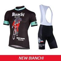 bianchi touring bicycles - 2016 New Bianchi Cycling Bicycle Jersey Tour De France Short Bike Bicicleta Ropa Roupas Ciclismo Clothing MTB Set Bib Pants