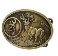 big buck - New Super Adult Unisex Buck Hunter Whitetail Deer Emblem Buckmark Belt Buckle America man Big Belt Buckle Buckles