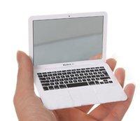 Wholesale Slim Mini Compact Height Simulation Laptop Style Mirror Fashion Makeup Tools