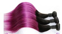 Wholesale NEW bundles ombre b purple straight hair extensions