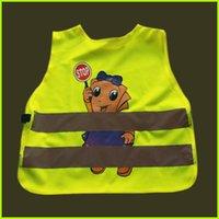Wholesale 200pcs Children Brightness Reflective Vest Lovely Cartoon Safety Vest Students Traffic Safety Clothing Breathable Kids Waistcoats