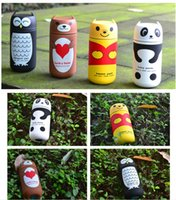 Wholesale Fashion ml Cute Panda Owl thermoses Stainless Steel Vacuum Cup light and portable kids water bottle