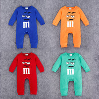 baby green beans - 2016 baby Romper one piece newborn infant jumpsuits chocolate bean long sleeve kid clothes wear Spring Fall