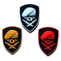 beret badges - VP PVC Patches Skull Berets Special Forces D PVC Patch Beret Soldier Morale Military Armband Tactical Badge CM