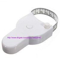 Wholesale 500pcs a Accurate Diet Fitness Caliper Measuring Tape Body Waist Tape Measure Hot Factory price Fitness Accurate Body Care