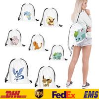 Wholesale 3D Women Lady Poke Go Printed Backpack Shopping Bags Fashion Children School Bag Casual Sport Outdoor drawstring handbags Packs Bags ZJ B11