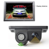 Wholesale High Quality Universal LCD Car SUV Reverse Parking Radar Backup Rear View Camera Kit TV lines CAL_00B