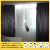 Wholesale Double track motorized curtain blinds and degree window acceptable wireless remote control or control by smarthome