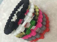 Wholesale New Sort Fit Life Dbbell Silicone Bagles Bracelet Men Women Dumbbell Chakra Ya Brcet Reiki Pulseira Feminina colors sizes