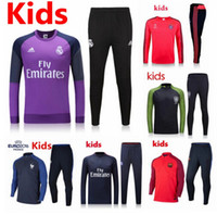 Wholesale New Training clothes kids PSG Arsenal France Portugal Real Madrid Maillot de foot tracksuits survetement football shirts long sleeves