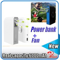 bank holding - Bladeless Fan Power Bank mAh Mini portable hand held desk cooling fan PowerBank Charger For iPhone Samsung huawei