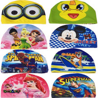 Wholesale Cartoon mickey mouse kids Swimming cap Frozen despicable Me Swimming cap Superman Children s swimming cap