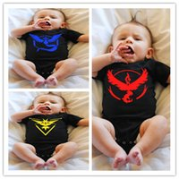 Wholesale Newest Poke Baby Rompers Colors Infant One Piece Onesies Toddlers Rompers Cartoon Poke ball Go Baby Suits Pikachu Shirts LC420
