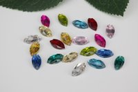 Wholesale 100pcs mmx12mm Rhinestone Crystal Glass Double Hand Stitched a Variety of Colors Wedding Shoes Accessories