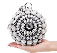 Wholesale Women Lady Fashion Bag Crystal Evening Clutch Bag Purse Handbag Shoulder bag Wedding Bridal Accessories Supplier