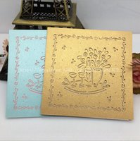 Wholesale Laser Cut Colorful Pearl Paper Greeting Cards Set Wedding Invitation Card RSVP Thank you Card Gift Card Pieces K19