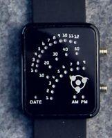 analog writing - Write round eyes Naruto Konoha mark fan LED watches electronic watches students watch fashion lovers table