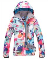 Wholesale Gsou snow womens camouflage skiing jackets female snowboarding jacket snow parka Women outdoor sports jacket skiwear many models