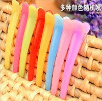 Wholesale 2016 HOT and Cheap ABS Plastic colorful Hair Clips for hair styling length cm mixed color order