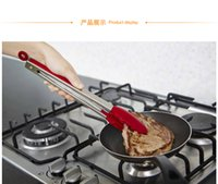 Wholesale 2 Set quot and quot BBQ Clip Food Clip Barbecue Clip Stainless Steel Ice Tongs Sugar Charcoal